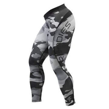 Better Bodies Camo Long Tights, grey