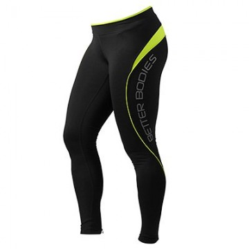 Better Bodies Fitness long tights Black Lime