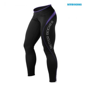Better Bodies Fitness long tights Black Purple