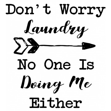 Don't Worry Laundry - No One Is Doing Me EITHER -tarra