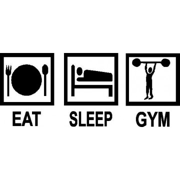 Eat Sleep Gym -tarra