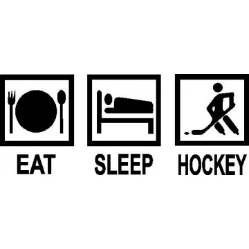 Eat Sleep Hockey -tarra