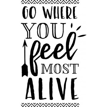 Go Where You Feel Most Alive-tarra