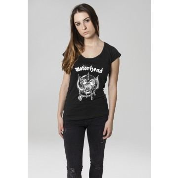 Ladies Motörhead Logo Cutted Back Tee