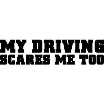 My Driving Scares Me too -tarra