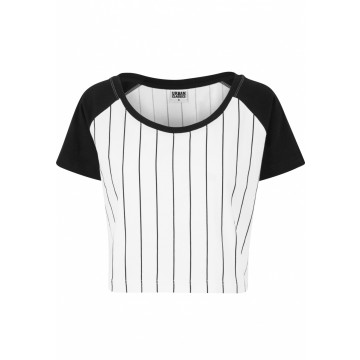 Urban Classics Ladies Cropped Baseball tee