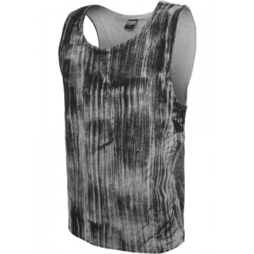Urban Classics Brush Print Big Tank, harmaa