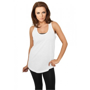 Urban Classics Ladies Long Loose Racerback Tank, valk