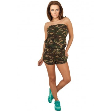Urban Classics Ladies Camo Hot Jumpsuit