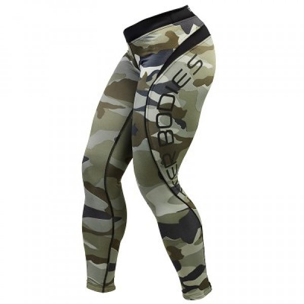 Better Bodies Camo Long Tights, green